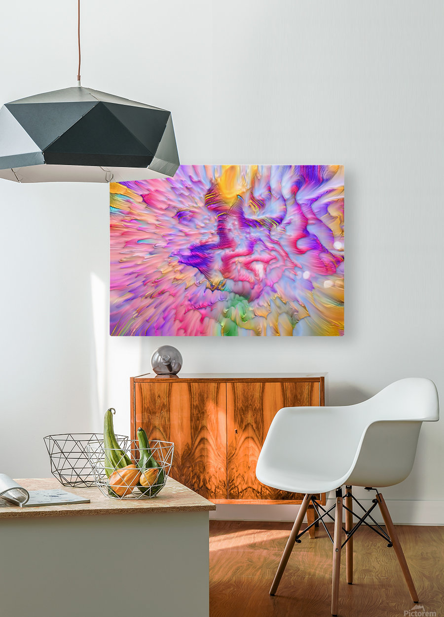 2  HD Metal print with Floating Frame on Back