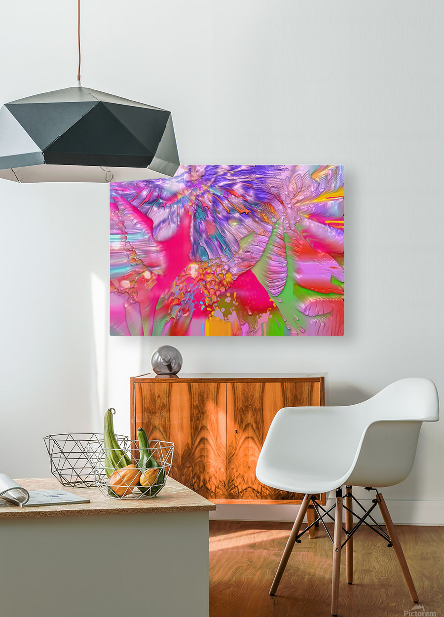 48  HD Metal print with Floating Frame on Back