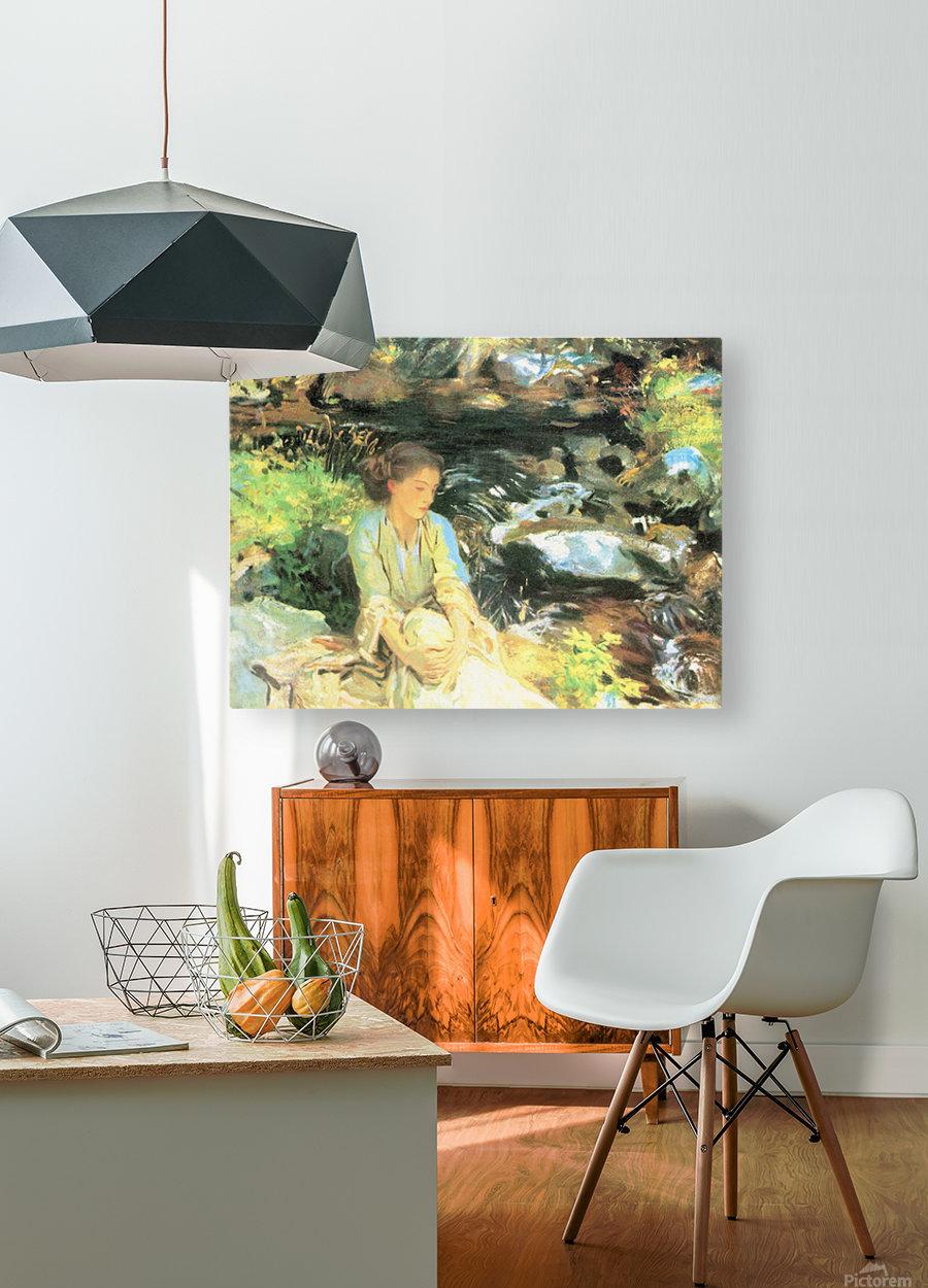 The black creek by John Singer Sargent  HD Metal print with Floating Frame on Back
