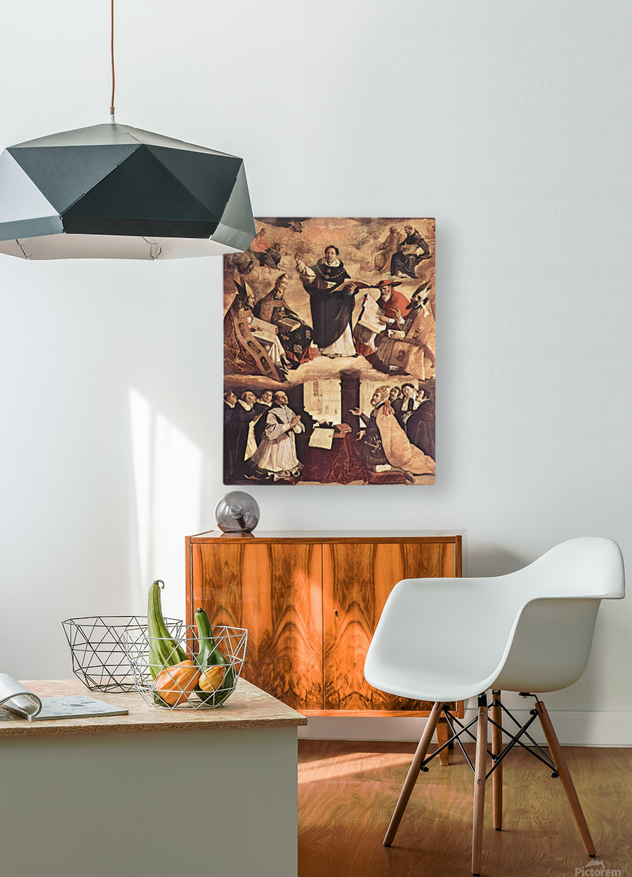 Saint Thomas Aquinas  HD Metal print with Floating Frame on Back