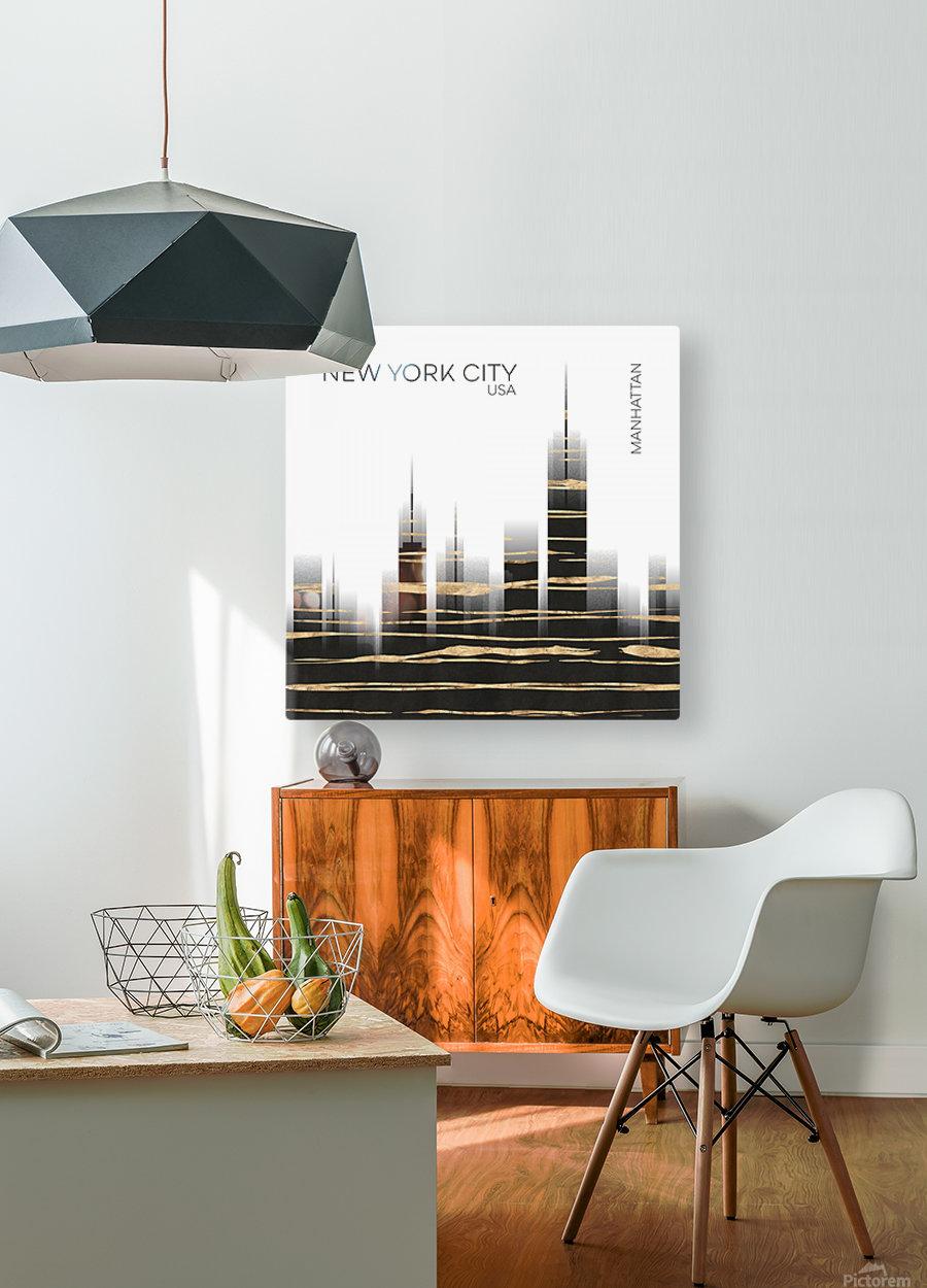 Urban Art NYC Skyline  HD Metal print with Floating Frame on Back