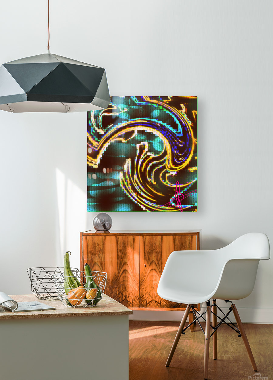 Jellyfish Cuddling Session  HD Metal print with Floating Frame on Back
