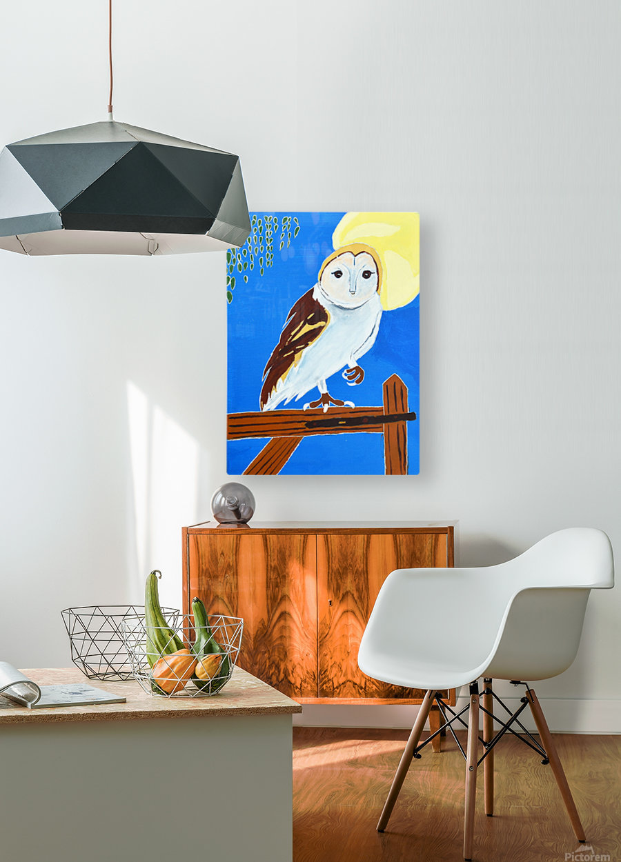 Davere H. Owl  HD Metal print with Floating Frame on Back