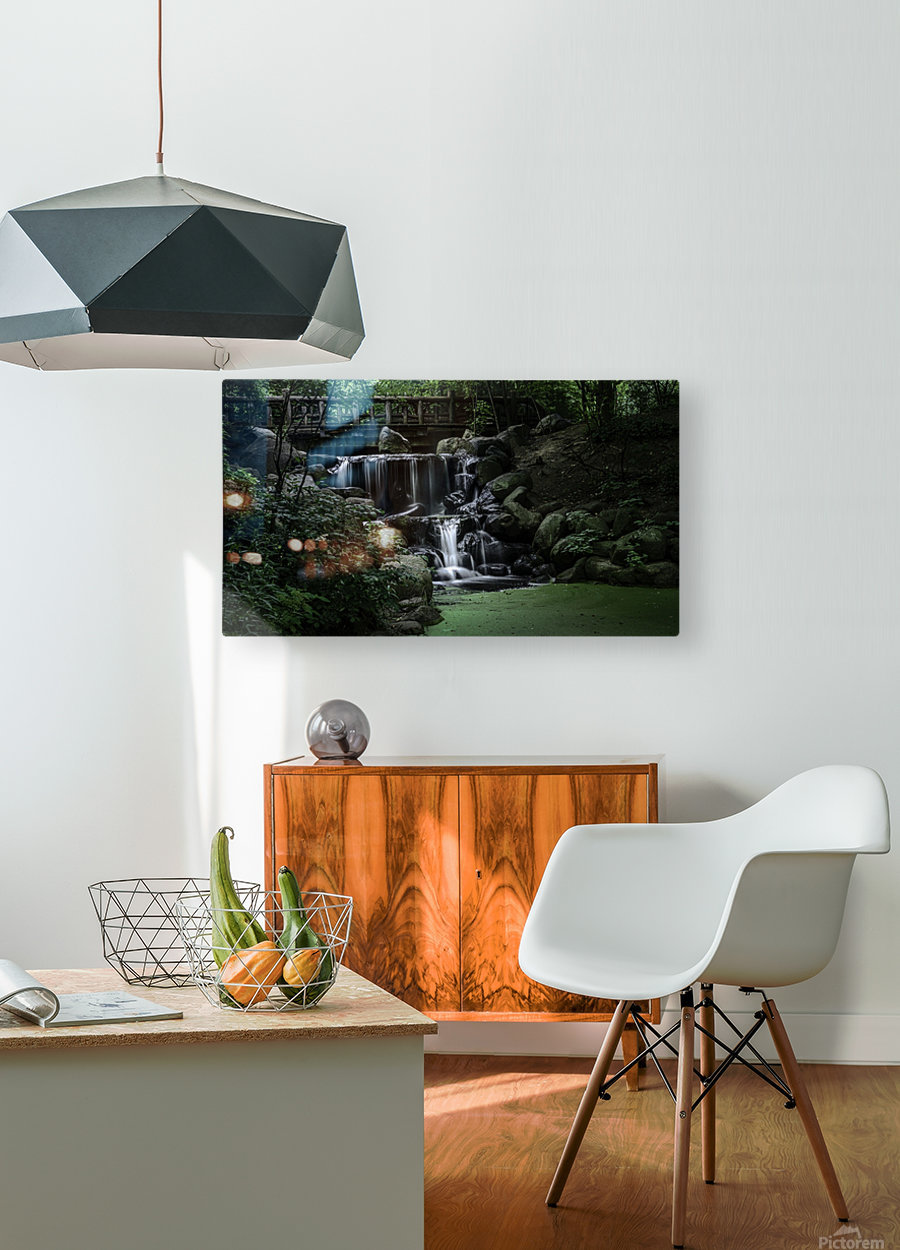 Prospect park waterfall no frame  HD Metal print with Floating Frame on Back