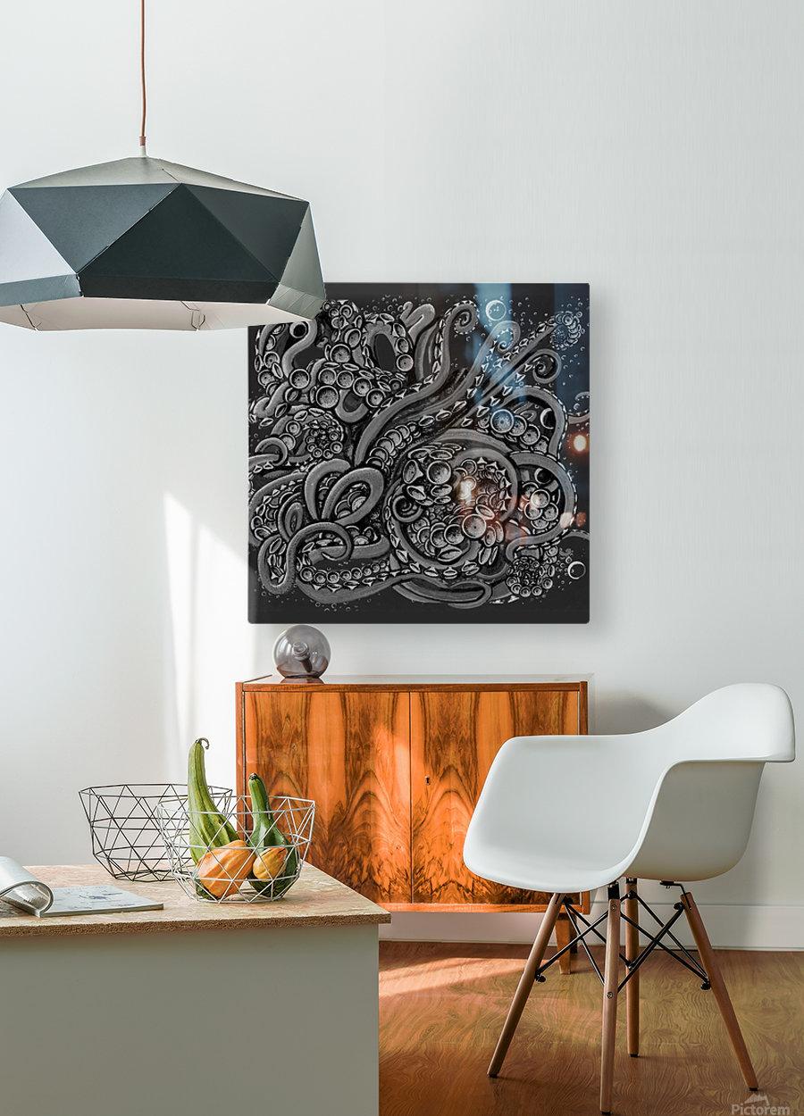 Nova Greyscale  HD Metal print with Floating Frame on Back