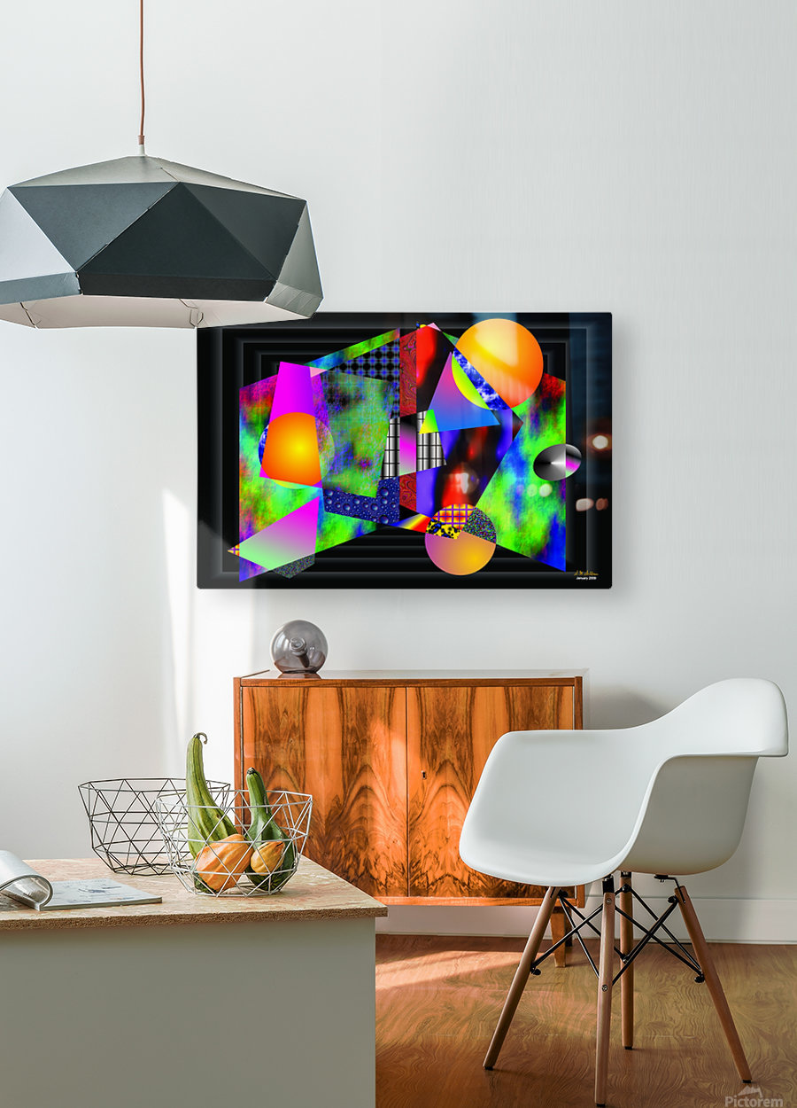 1-Intersections  HD Metal print with Floating Frame on Back
