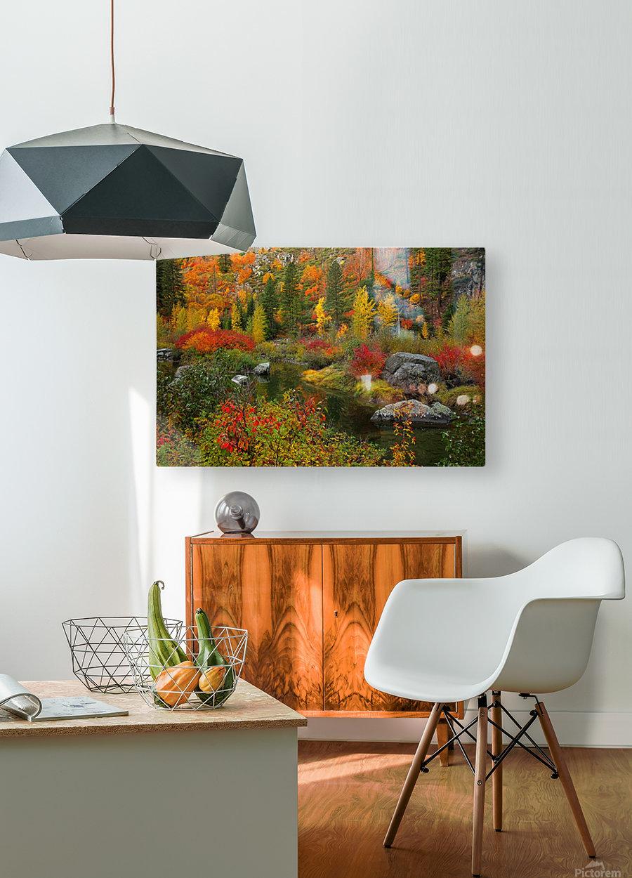 autmn daze  HD Metal print with Floating Frame on Back