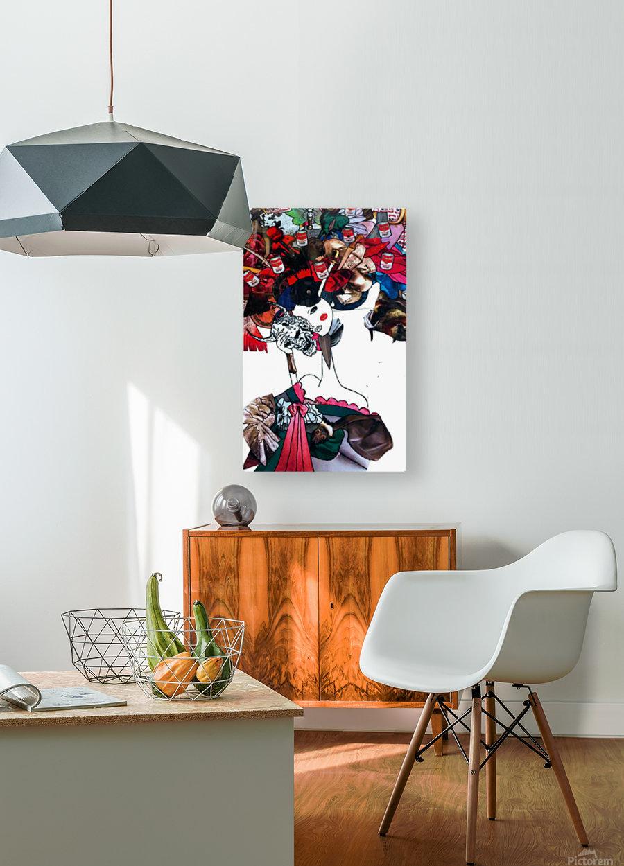 masked geisha  HD Metal print with Floating Frame on Back