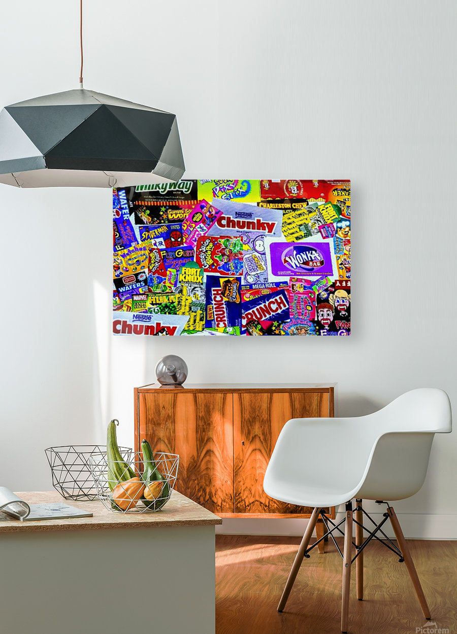 candy wrapper madness  HD Metal print with Floating Frame on Back