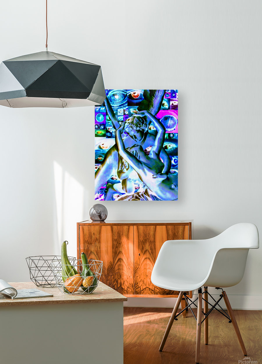 erotic statue  HD Metal print with Floating Frame on Back