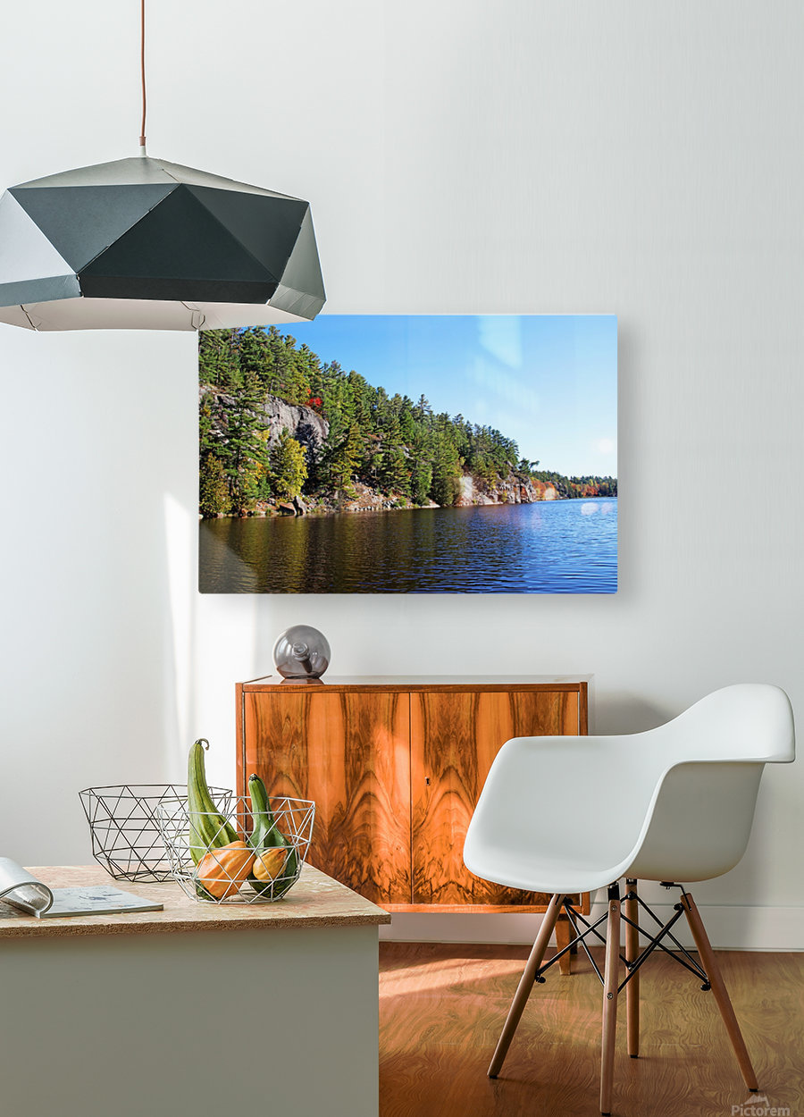 Key River Shore In Fall II  HD Metal print with Floating Frame on Back