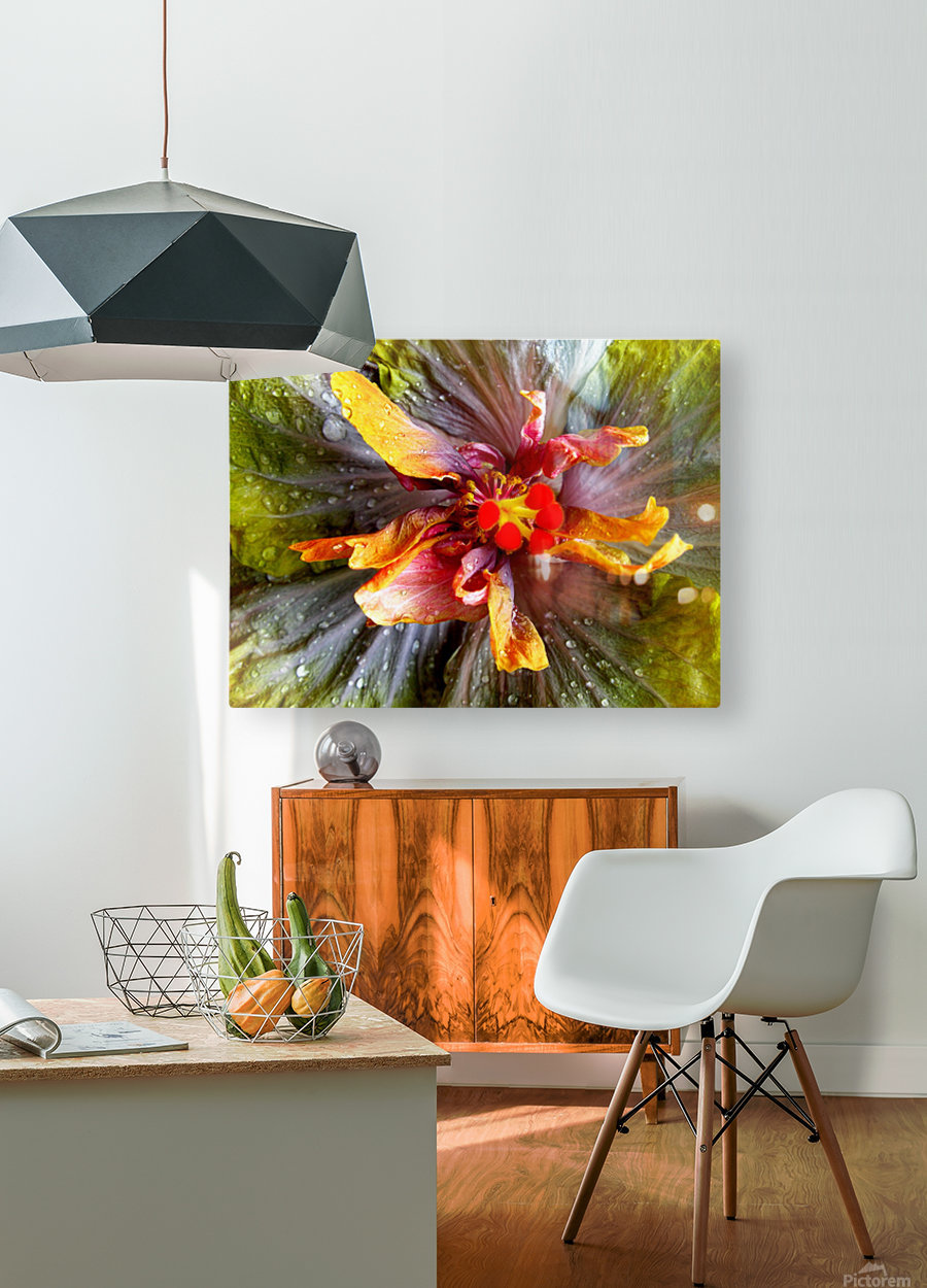 The Multicolored You  HD Metal print with Floating Frame on Back