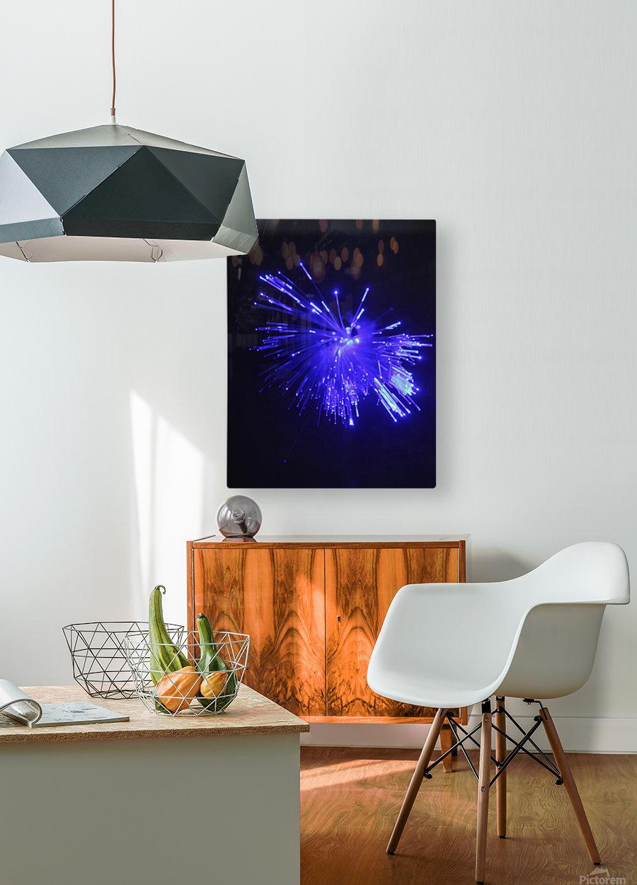 Blue Sparkle  HD Metal print with Floating Frame on Back