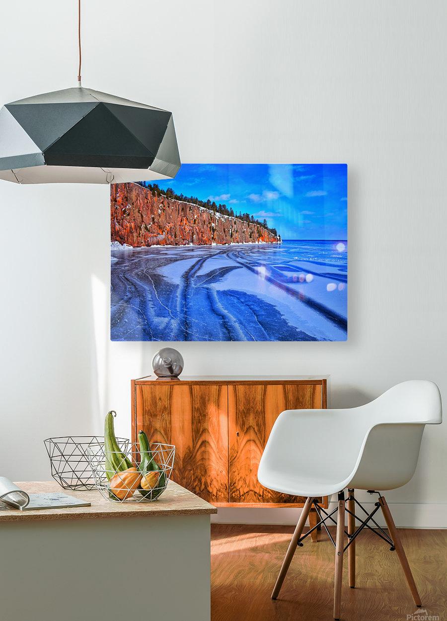 Frozen Shovel Point  HD Metal print with Floating Frame on Back