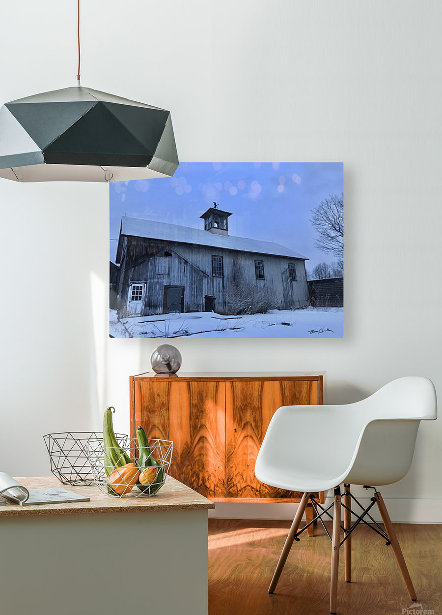 Avon Barn  HD Metal print with Floating Frame on Back