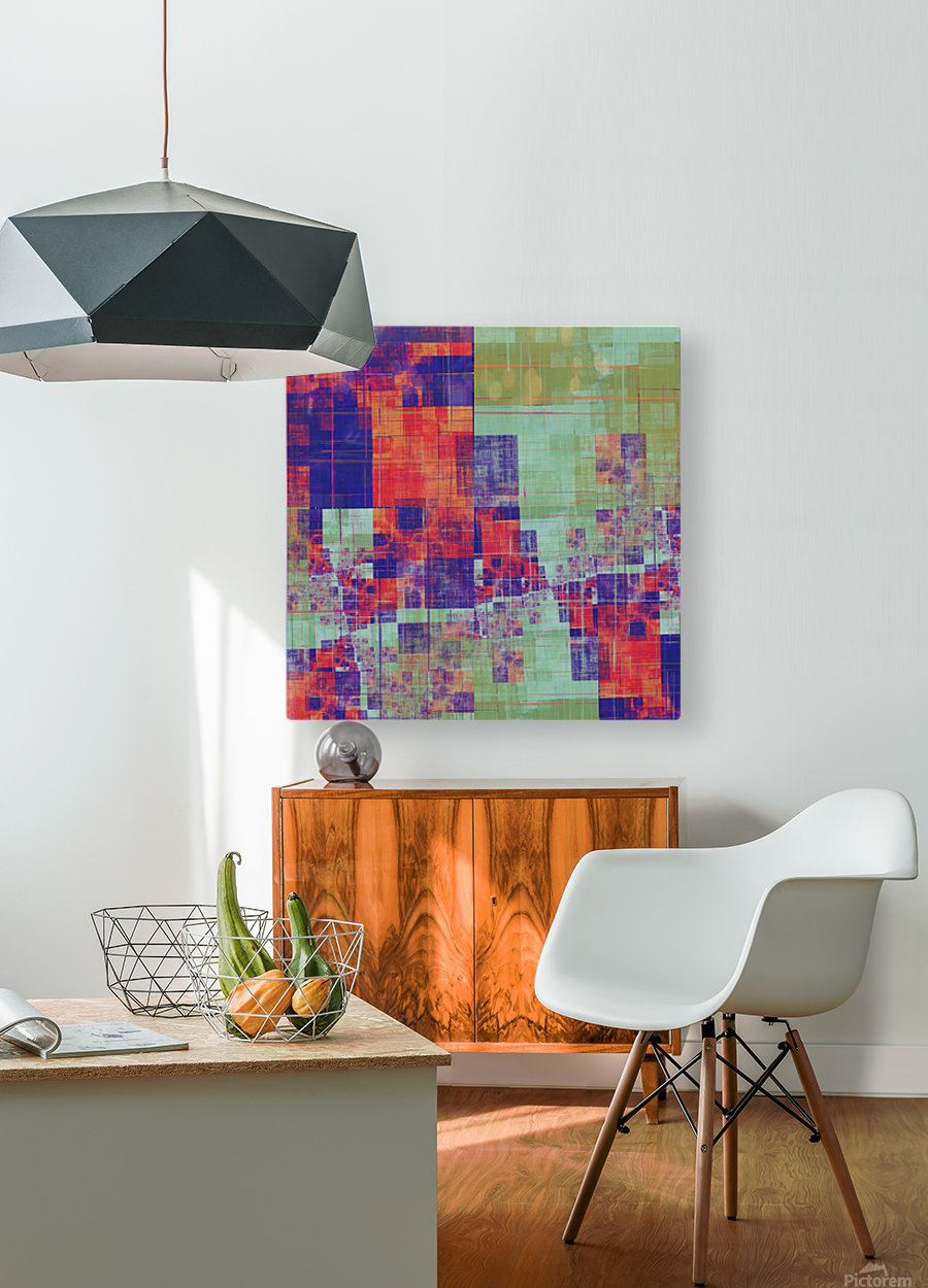 Abstract Composition 217  HD Metal print with Floating Frame on Back