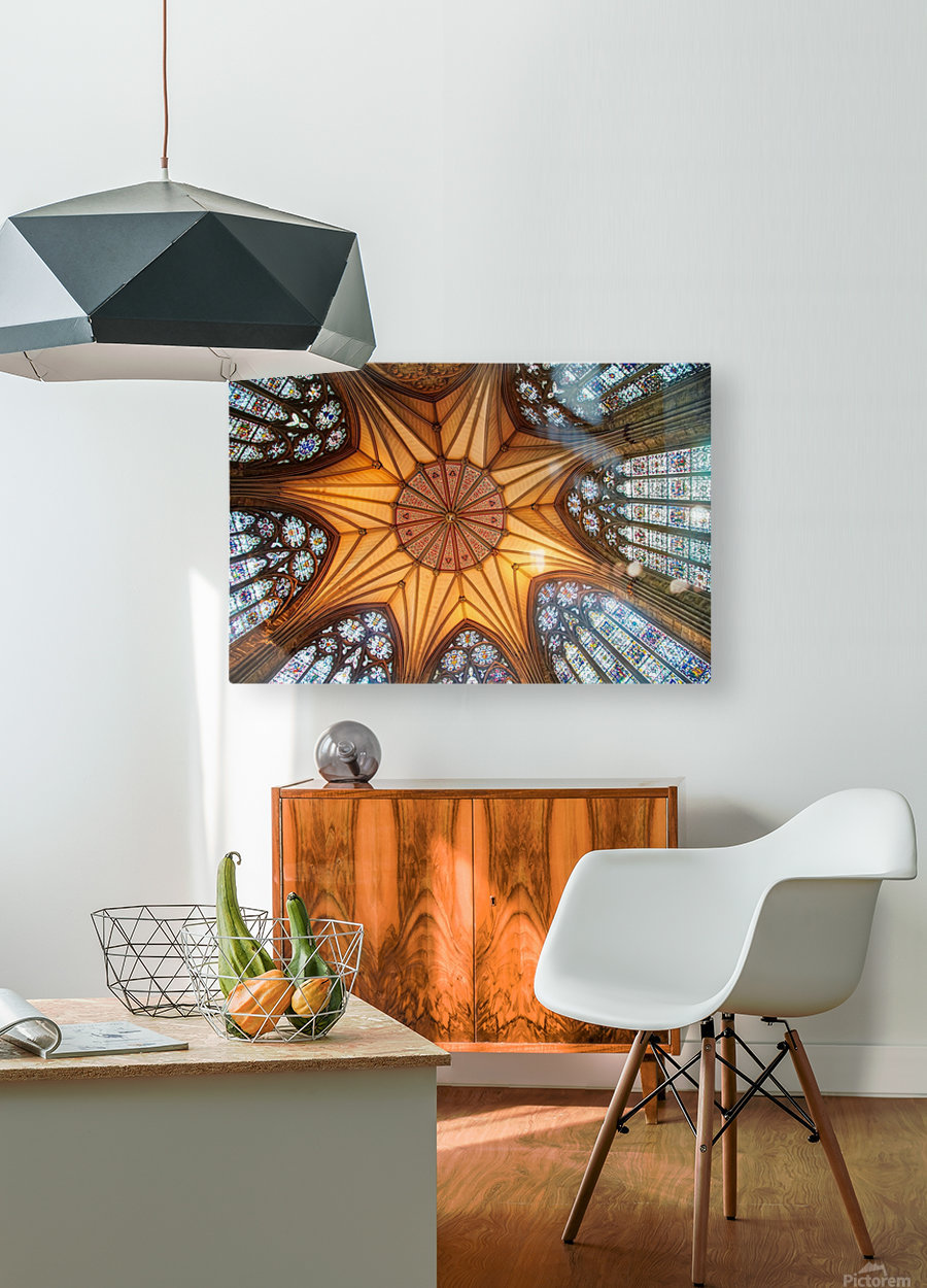 Religious Ceiling  HD Metal print with Floating Frame on Back
