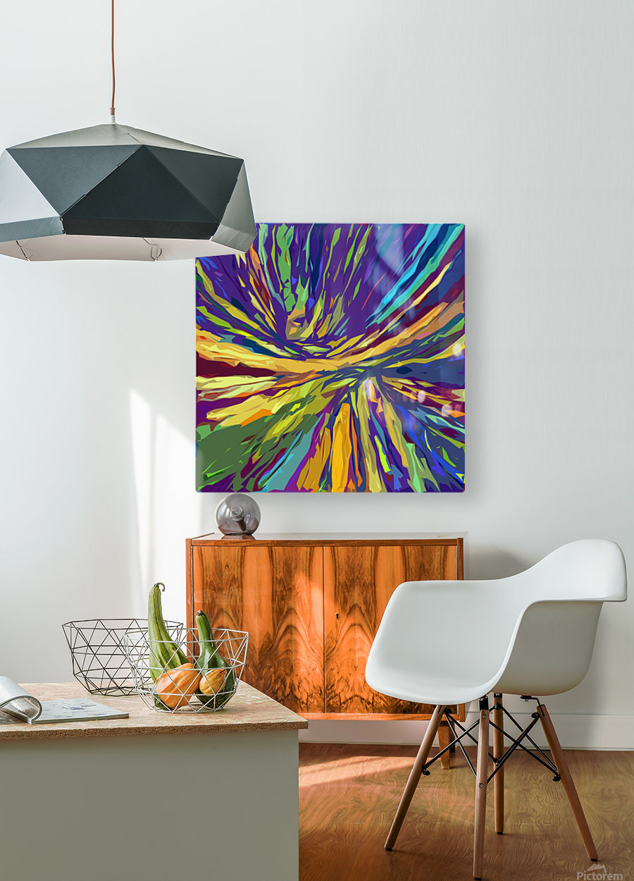 Abstract Composition 731  HD Metal print with Floating Frame on Back
