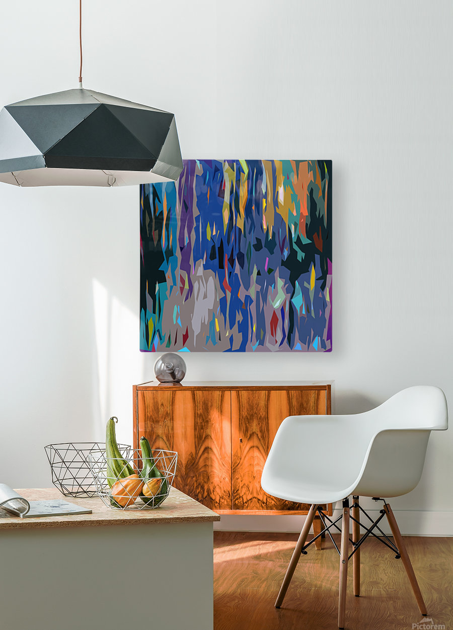 Abstract Composition 726  HD Metal print with Floating Frame on Back