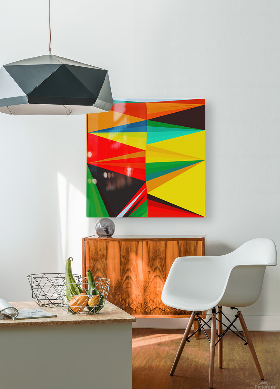 Abstract Composition 652  HD Metal print with Floating Frame on Back
