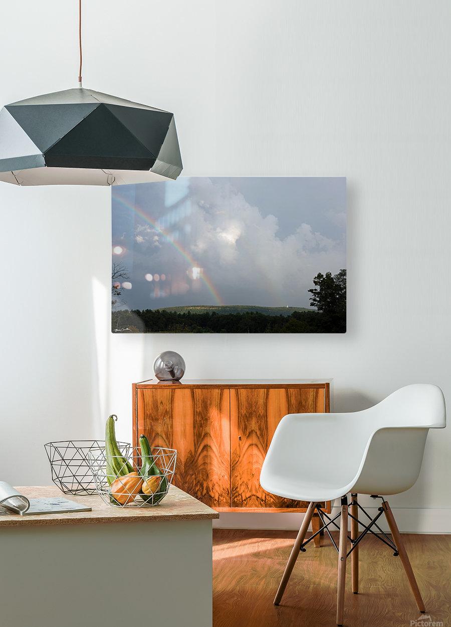 Rainbow Ridge  HD Metal print with Floating Frame on Back