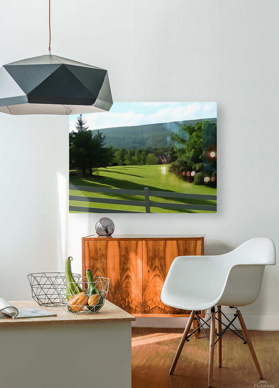 House on the Hill  HD Metal print with Floating Frame on Back