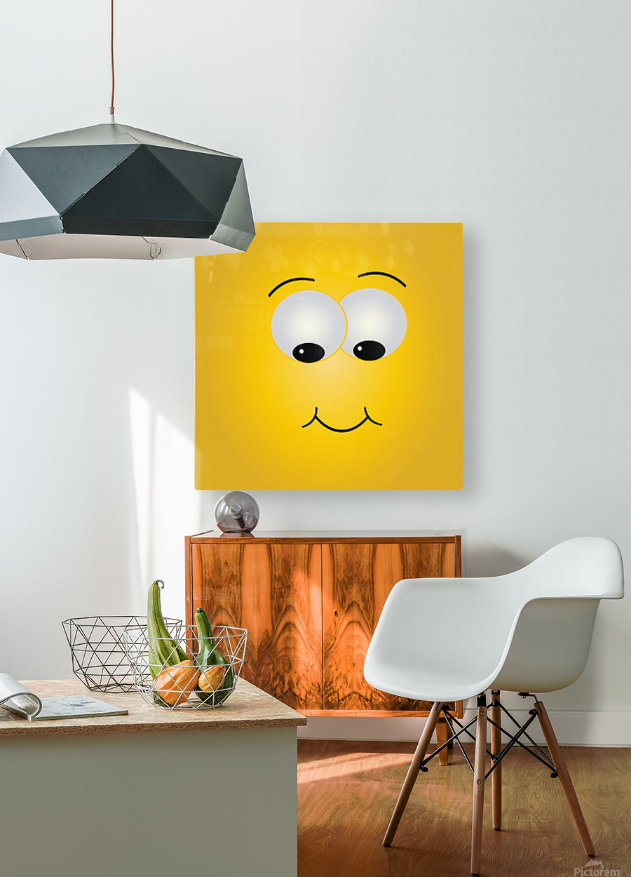 Smiling Puffy   HD Metal print with Floating Frame on Back