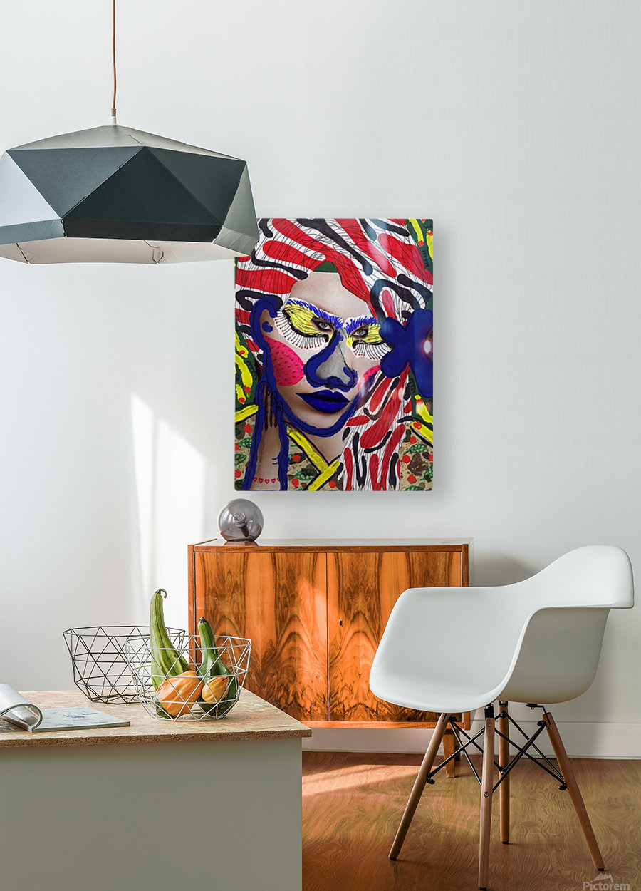 PAINTING72  HD Metal print with Floating Frame on Back