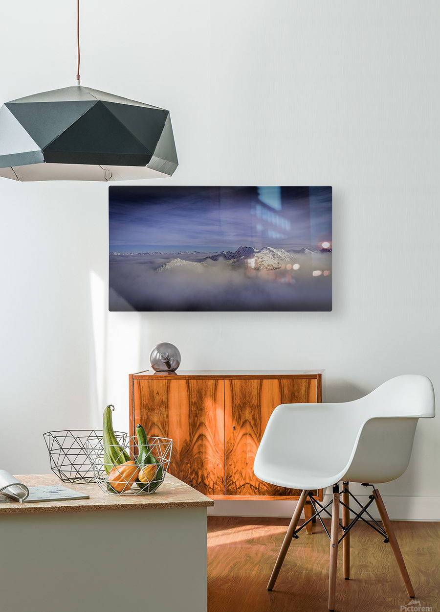 Alpine inversion Kootenay Back country   HD Metal print with Floating Frame on Back