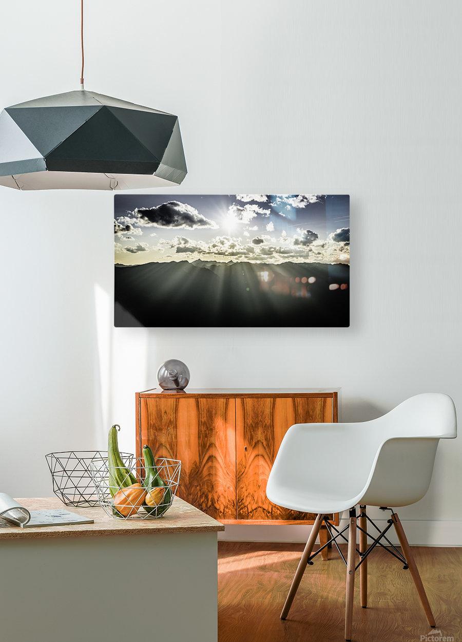 Selkirk Mountain ridge Line Kaslo BC  HD Metal print with Floating Frame on Back