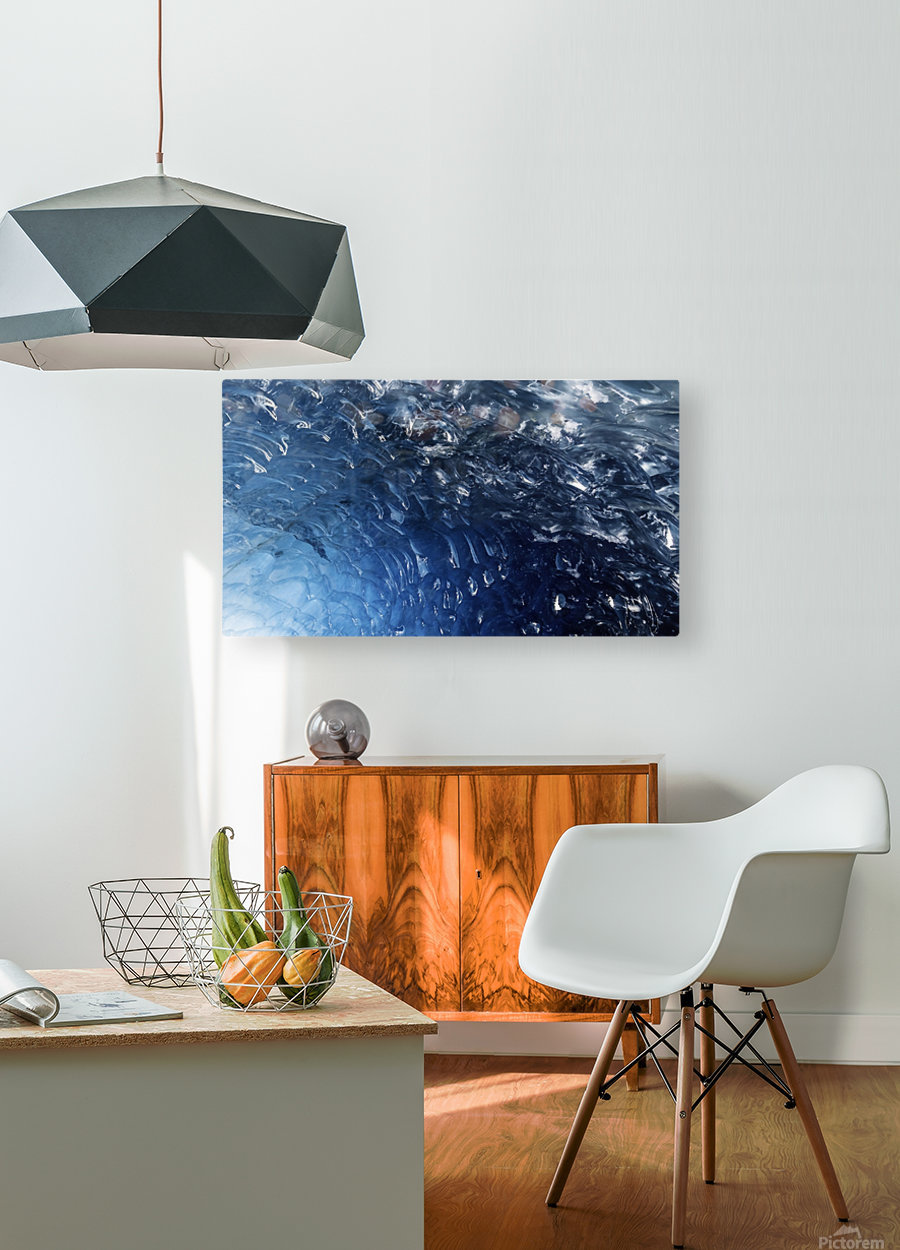 Glacier ICE formation   HD Metal print with Floating Frame on Back