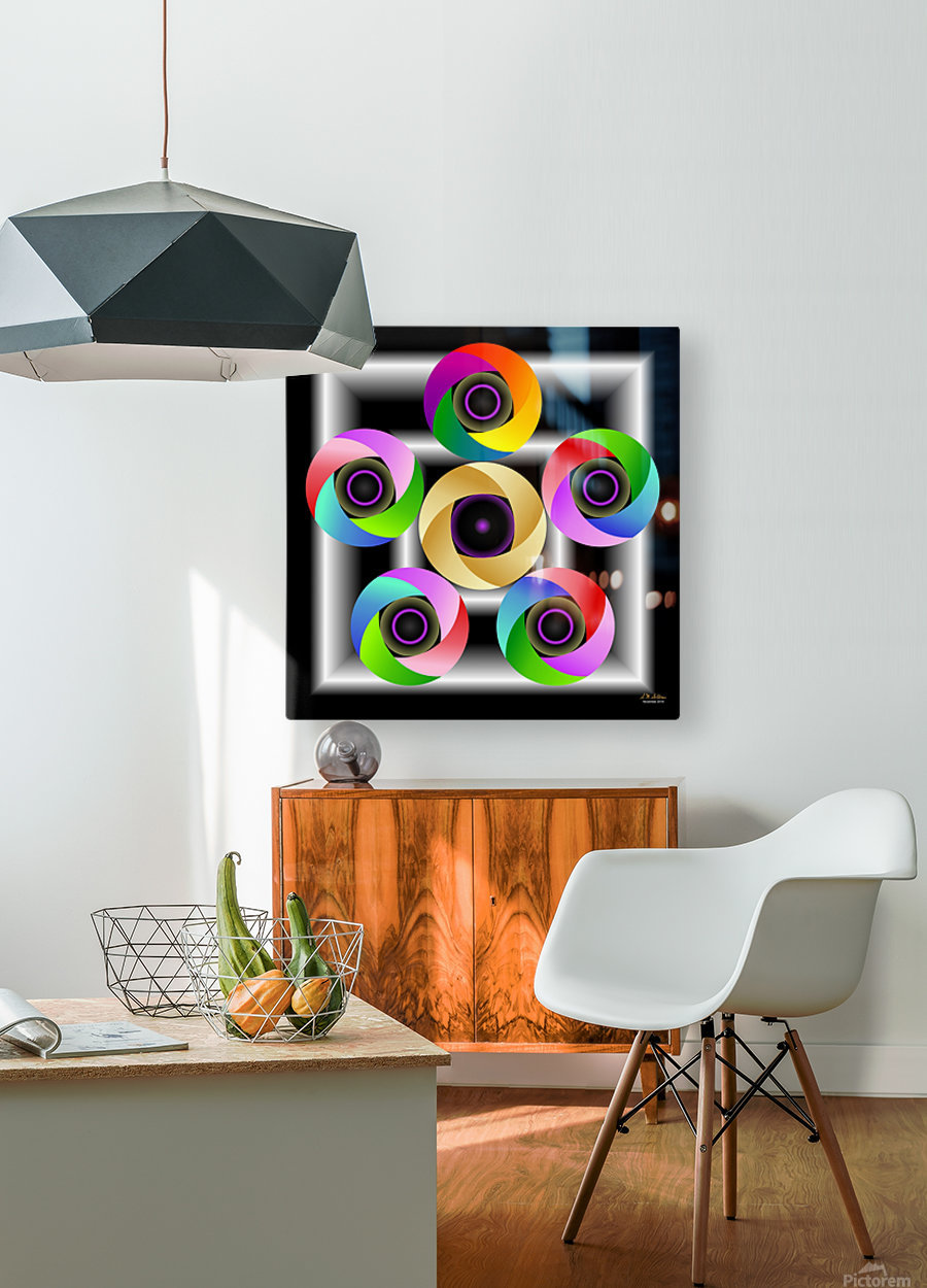1-Ring Around the Rosie  HD Metal print with Floating Frame on Back