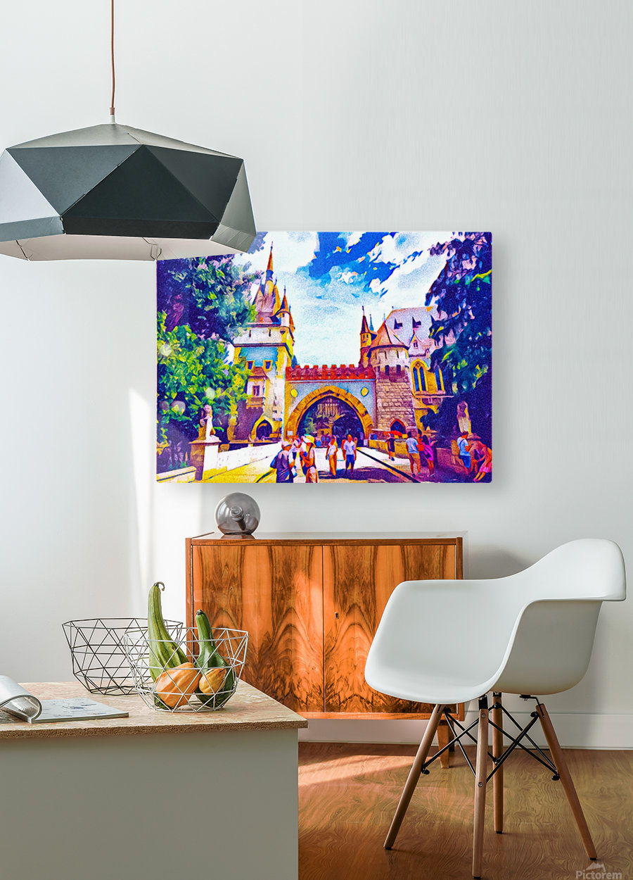 Vajdahunyad Castle  HD Metal print with Floating Frame on Back