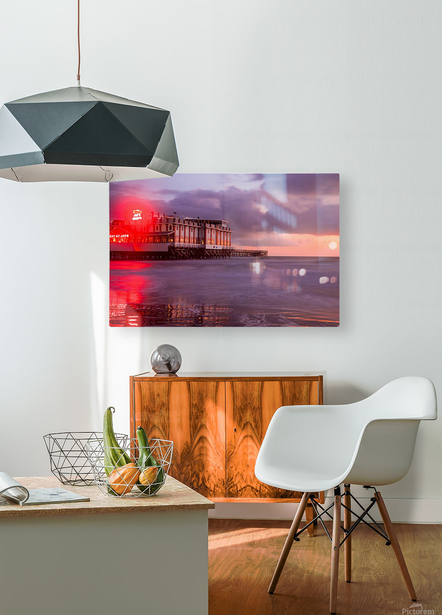 Red Dawn  HD Metal print with Floating Frame on Back