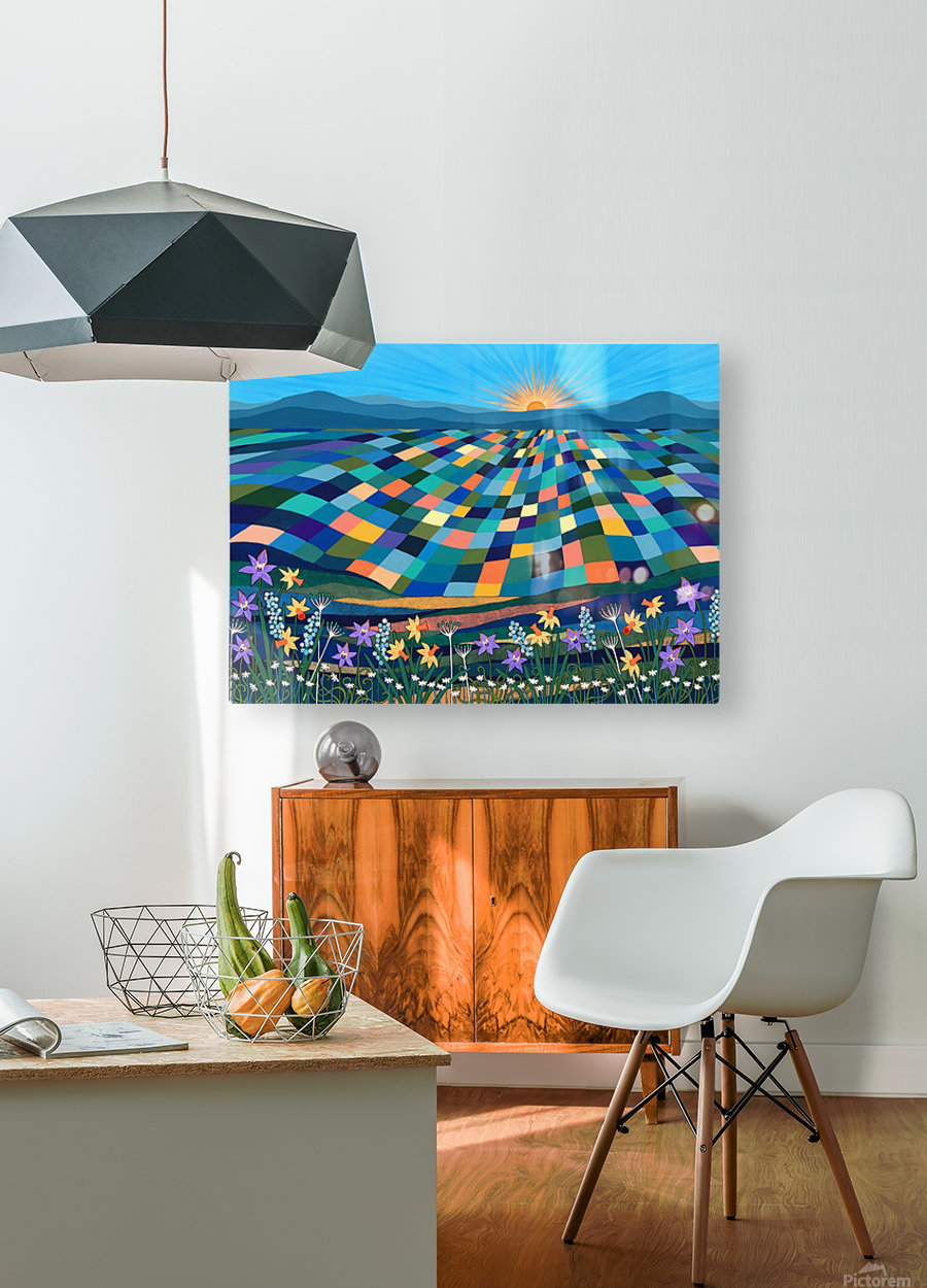 Bright Sun Shiny Day   HD Metal print with Floating Frame on Back