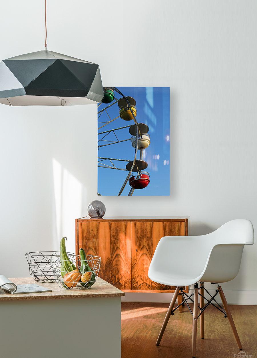 Ferris Wheel  HD Metal print with Floating Frame on Back