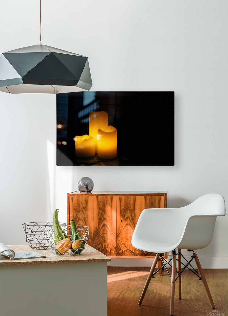 Light in the Dark  HD Metal print with Floating Frame on Back