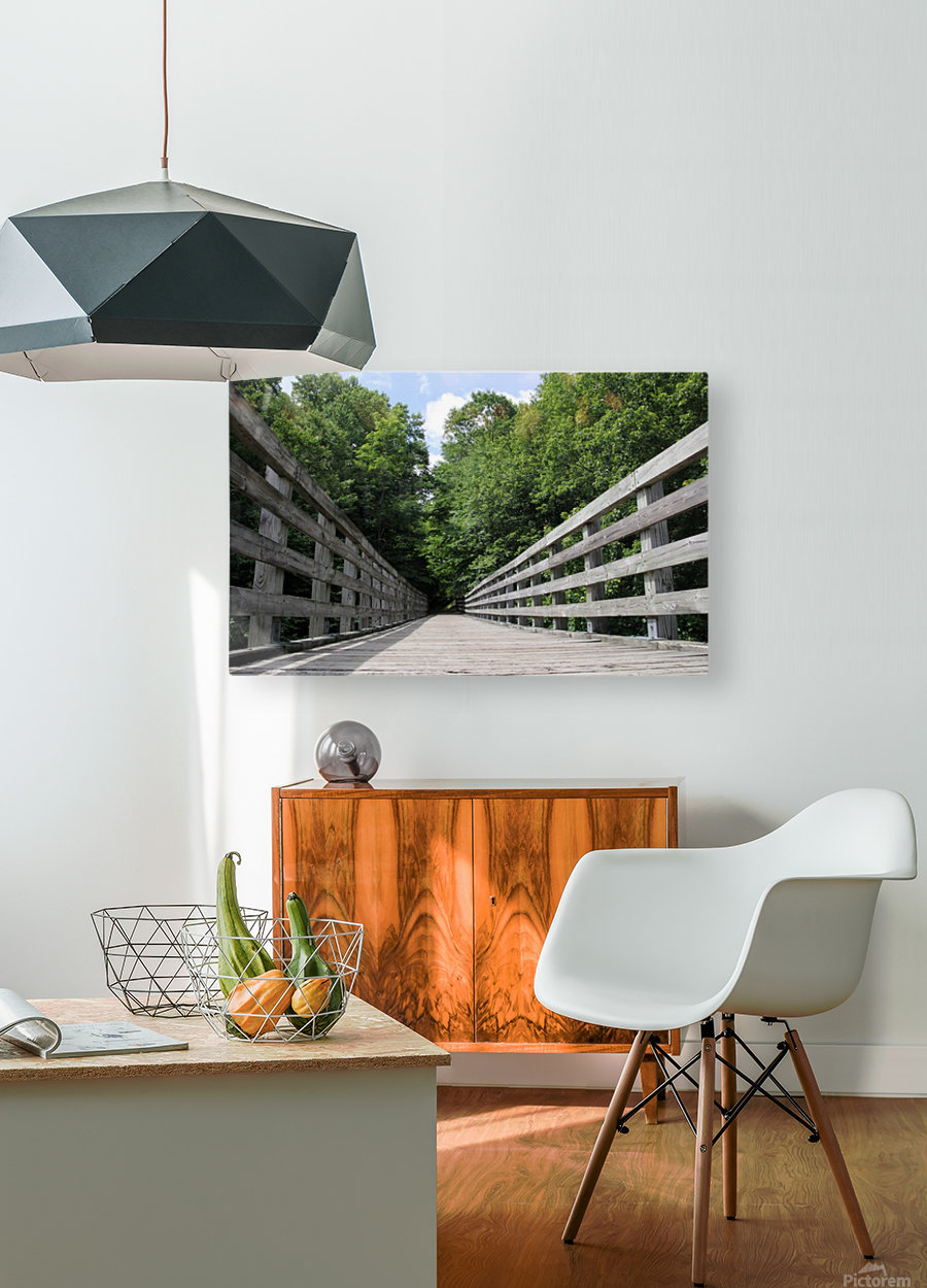 Rail to Trail  HD Metal print with Floating Frame on Back