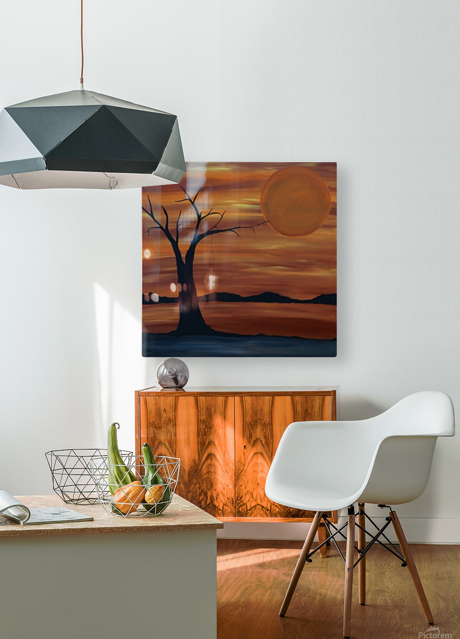 Ares tree acrylic painting  HD Metal print with Floating Frame on Back