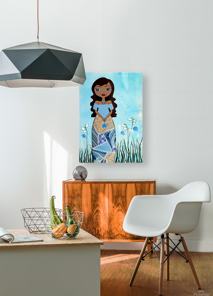 Wish Girl  HD Metal print with Floating Frame on Back