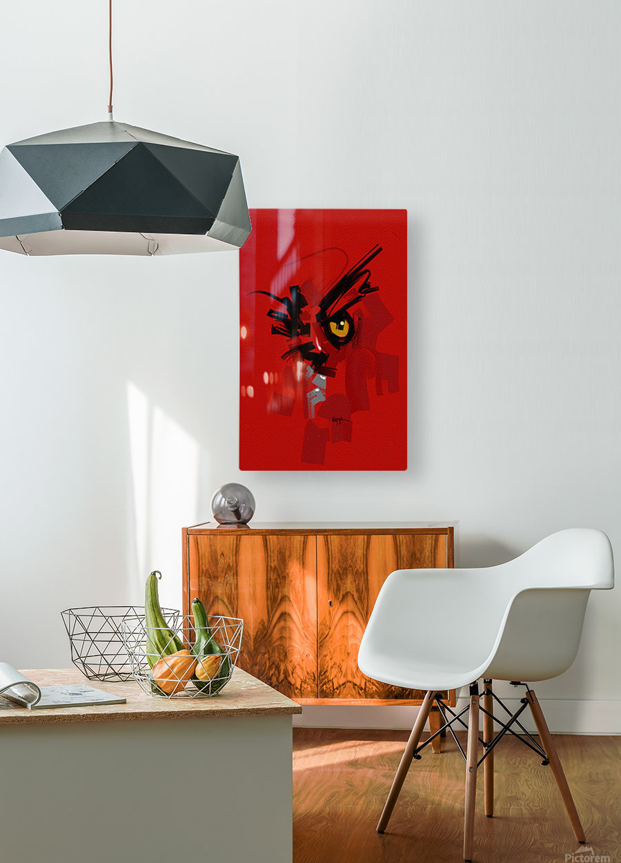 RED II  HD Metal print with Floating Frame on Back
