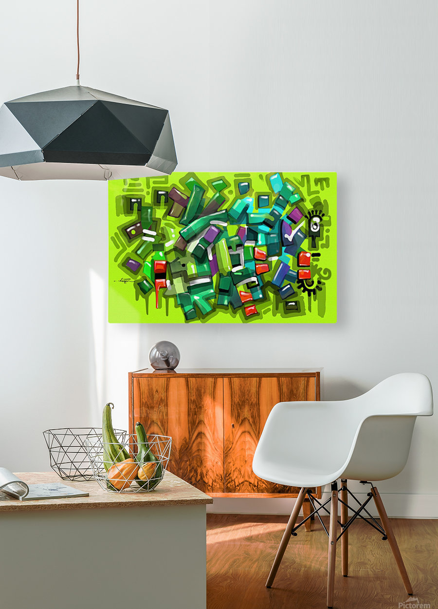 POND  HD Metal print with Floating Frame on Back