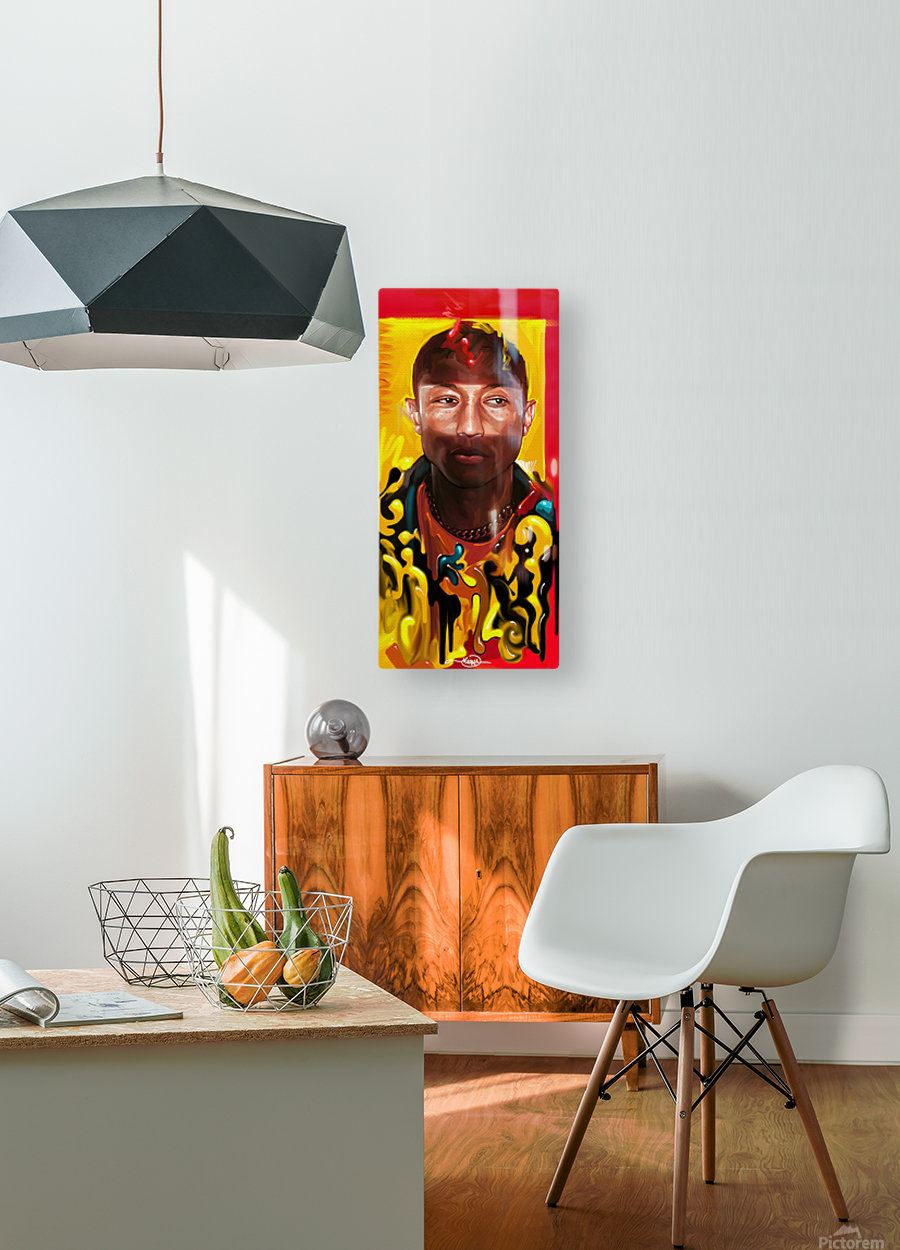 PHARELL WILLIAMS  HD Metal print with Floating Frame on Back