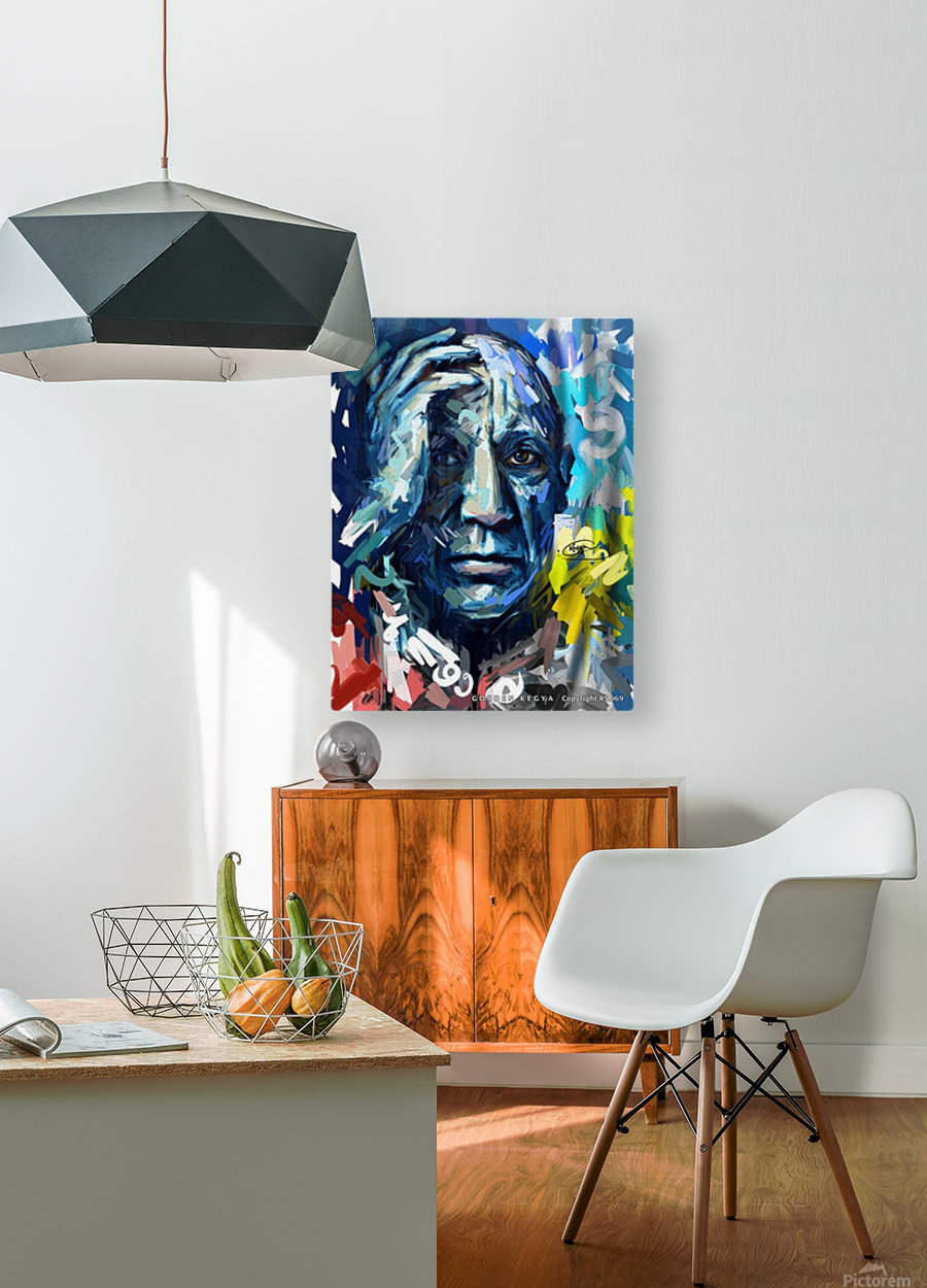 picasso  HD Metal print with Floating Frame on Back