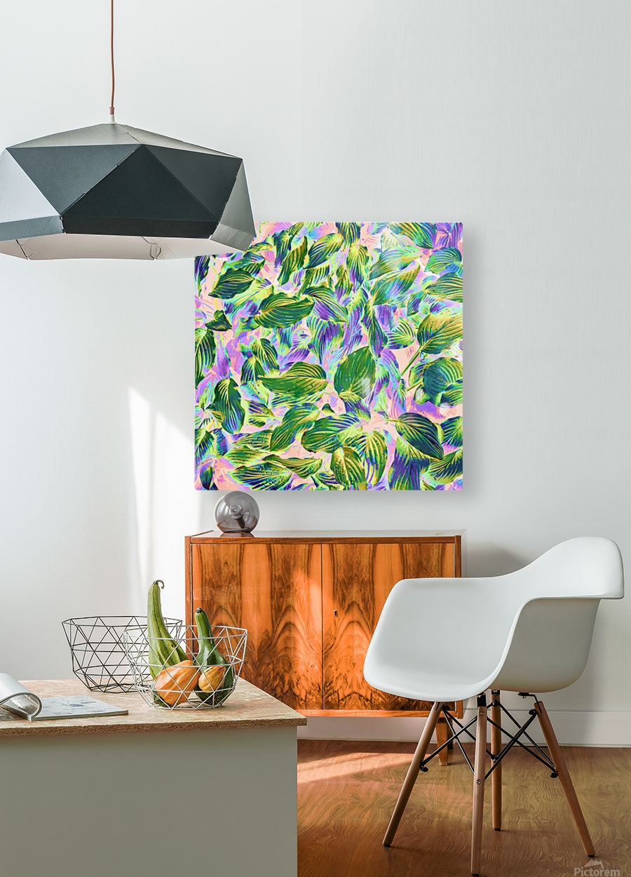 Happy Leaves  HD Metal print with Floating Frame on Back