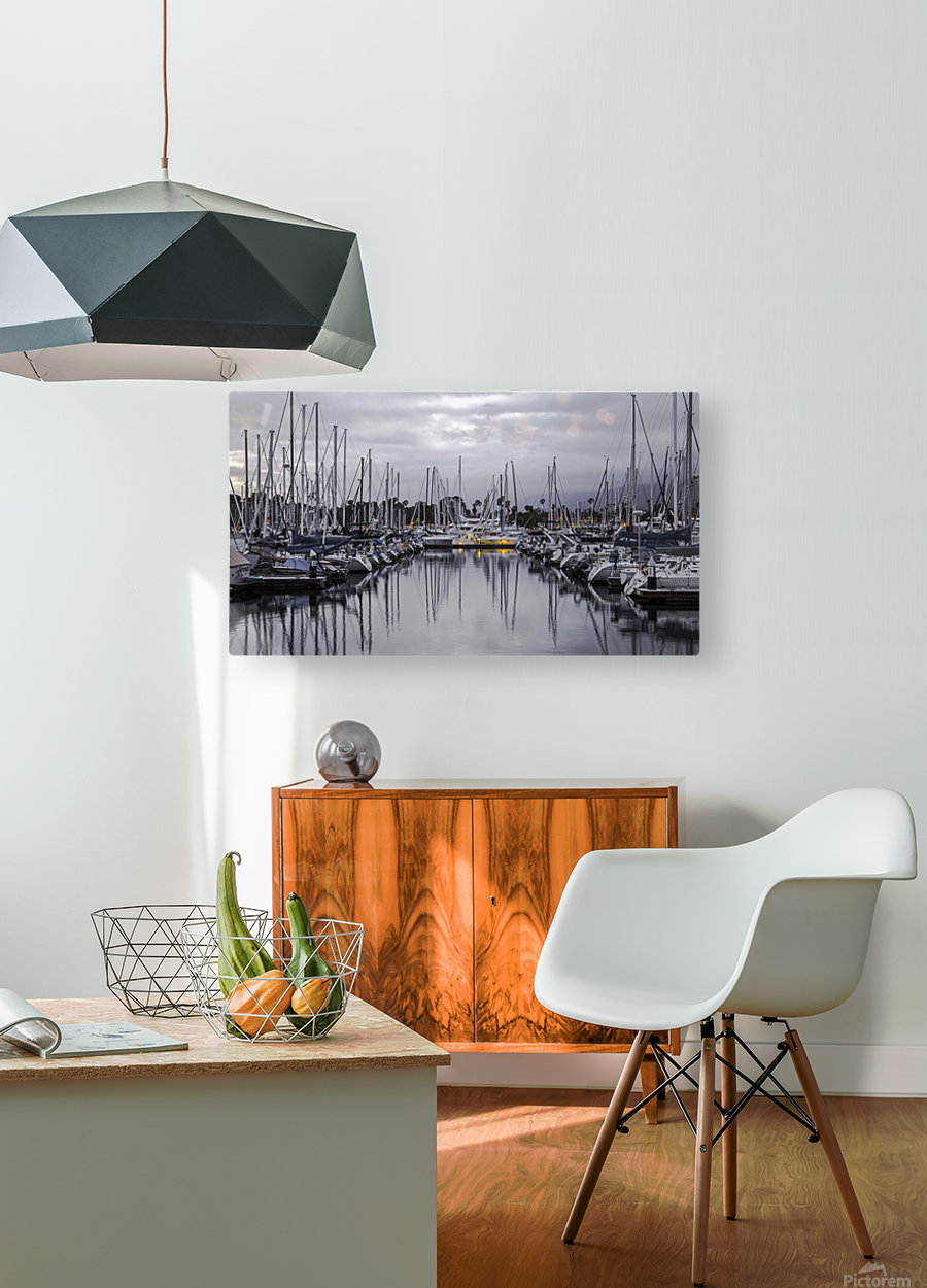 Boat Mess  HD Metal print with Floating Frame on Back