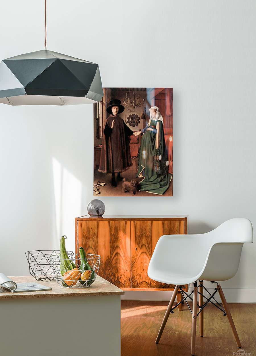 Arnolfini Wedding by Jan Van Eyck  HD Metal print with Floating Frame on Back
