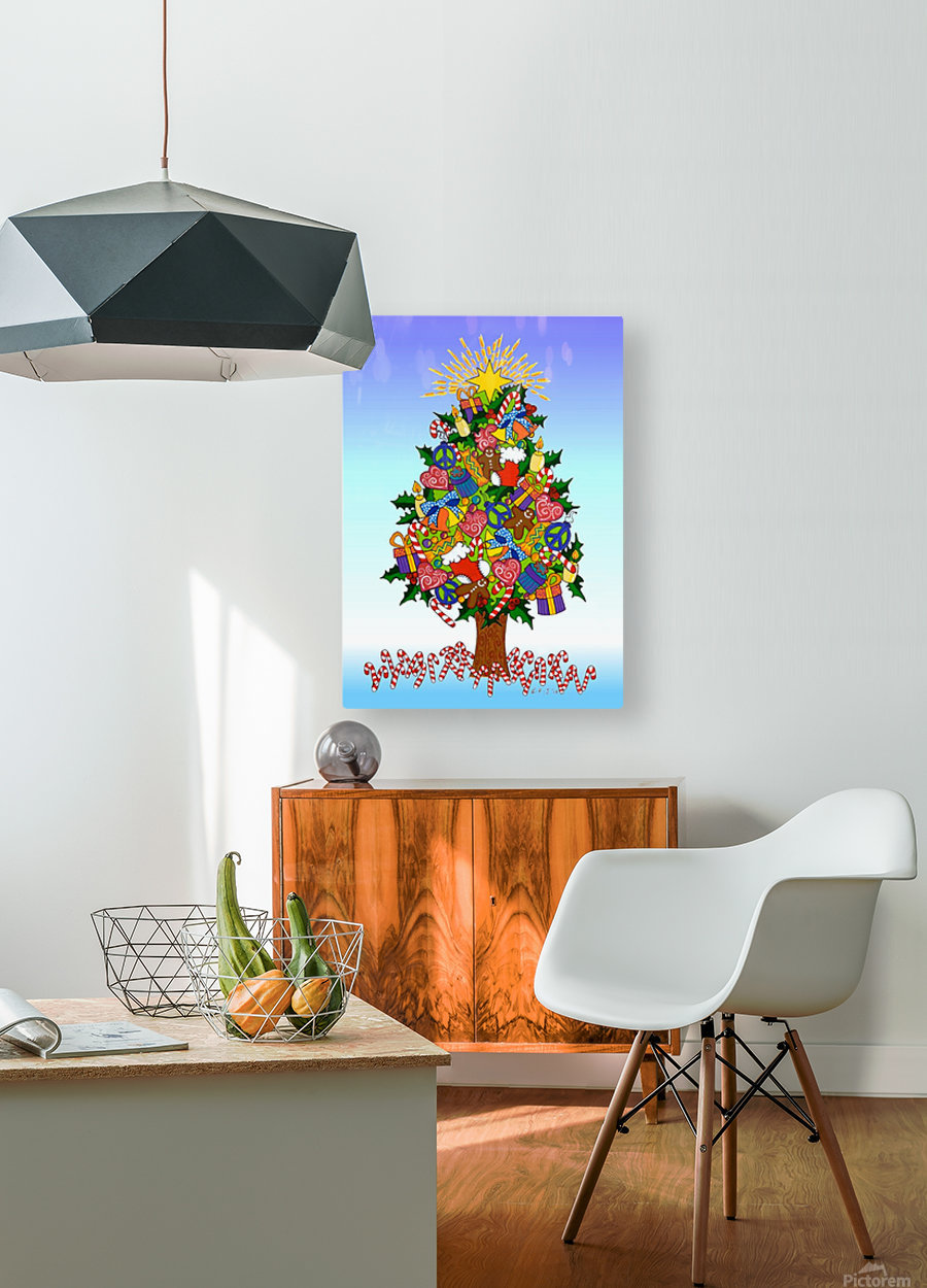 Joy of Christmas  HD Metal print with Floating Frame on Back