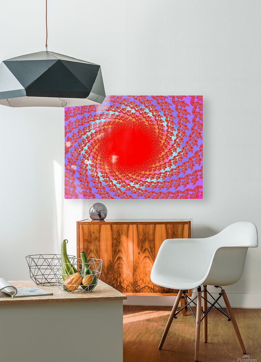 A Sun Burst In Spring 1  HD Metal print with Floating Frame on Back