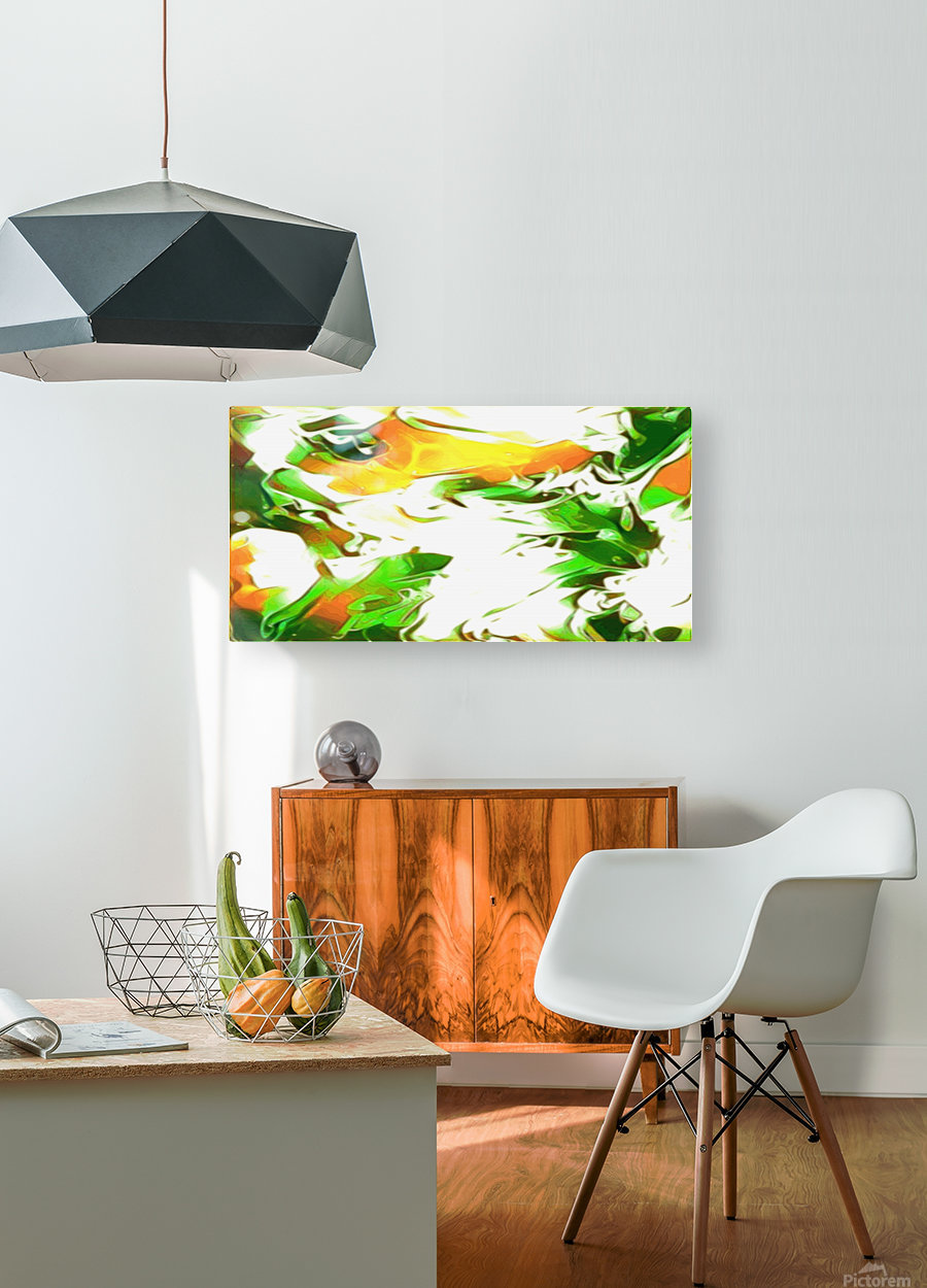 Legendary  HD Metal print with Floating Frame on Back